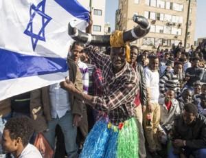 يهود الفلاشا يحتجون في اسرائيل
