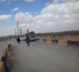 جانب من البوابة الأولي لمخيم الزعتري