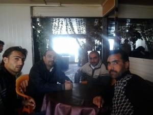 أحد مطاعم مخيم الزعتري