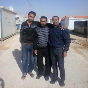أنا مع أحمد وعبدو السوريين داخل المخيم