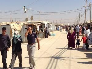 شوارع مخيم اللاجئين السوريين بالأردن