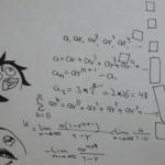 رسم توضيحي لمعادلات المتواليات الهندسية المعقدة