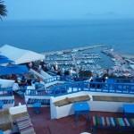 صورة توضح إطلالة سيدي بو سعيد على البحر المتوسط