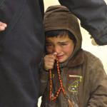 طفل يبكي في الحرب السورية