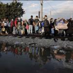 لاجؤون سوريون على الحدود التركية اليونانية